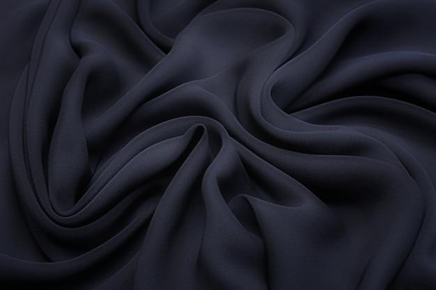 Tessuto di seta cadi di colore nero