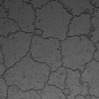 Vista superiore del fondo di pietra nera della crepa. struttura della roccia scura, pavimento in cemento con crepe, vecchia superficie ruvida di basalto, sfondo di montagna. carta da parati in basalto grigio scuro, muro in pietra grigia