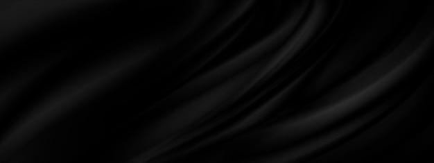 Sfondo in tessuto nero con illustrazione dello spazio della copia