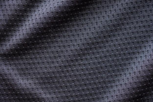 Trama di abbigliamento sportivo in tessuto nero
