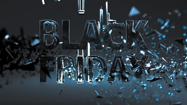 Sfondo del black friday, scritte su sfondo scuro. sviluppa un modello, layout, banner, opuscolo, poster.