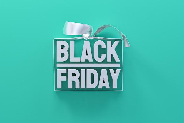 Venerdì nero in confezione regalo avvolto con nastro