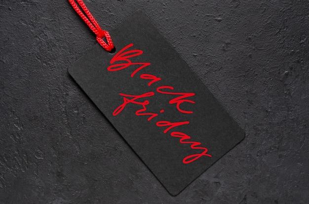 Venerdì nero - iscrizione scritta a mano sull'etichetta.
