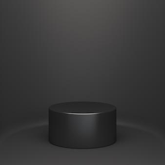 Venerdì nero vendita cilindro podio rendering 3d