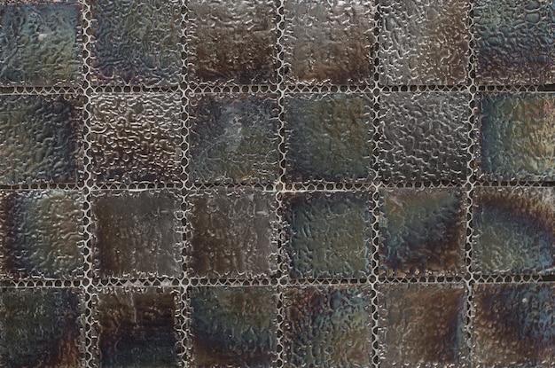 Piastrella con motivo a mosaico astratto geometrico nero per la cucina