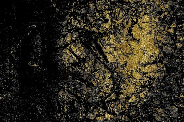 Sfondo astratto marmo nero e oro