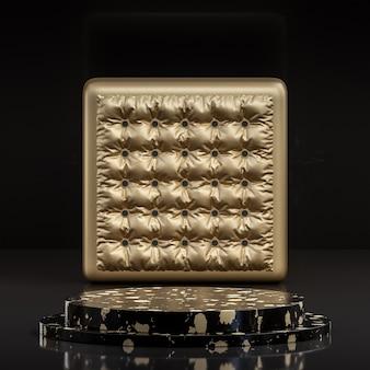 Il podio nero e oro si distingue per il lusso