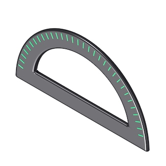 Goniometro isometrico scuola 3d nero e verde