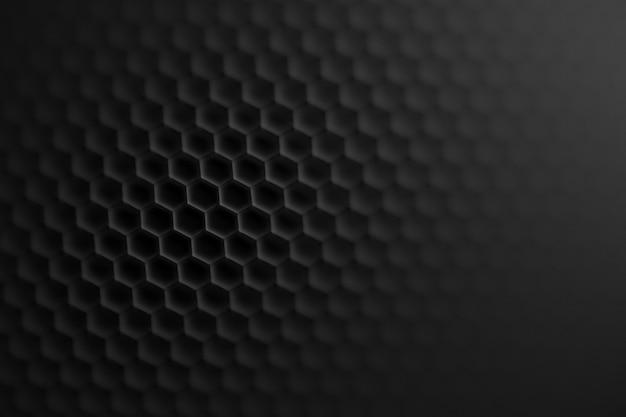 Motivo a maglia esagonale nera con effetto sfocatura