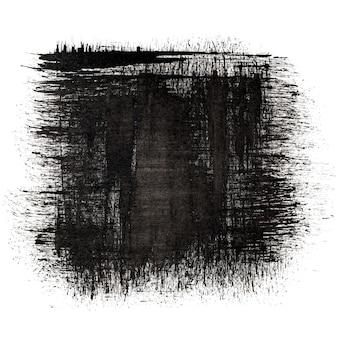Quadrato di inchiostro nero - sfondo astratto