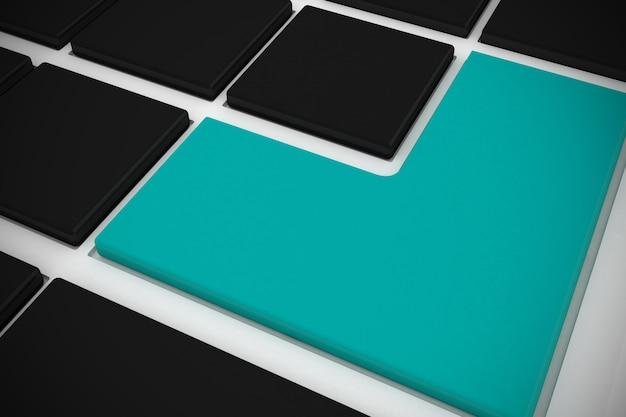 Tastiera nera con tasto blu