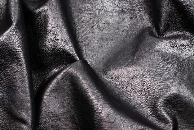 Modello in pelle nera. vista dall'alto.