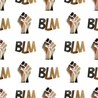 Black lives matter illustrazione
