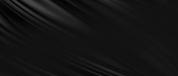 Sfondo in tessuto di lusso nero con copia spazio