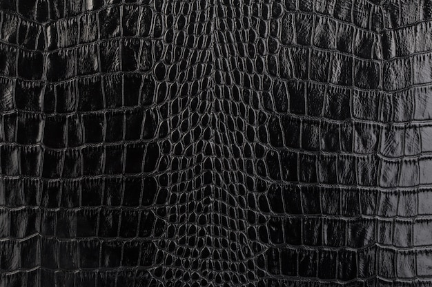 Sfondo texture pelle nera naturale