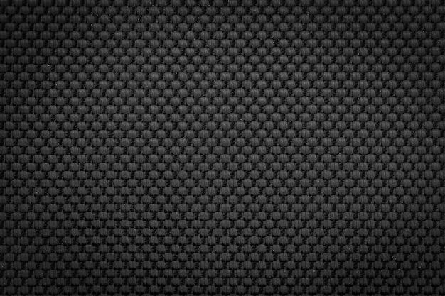 Sfondo di trama di tessuto di nylon nero per stilista di abbigliamento di moda.