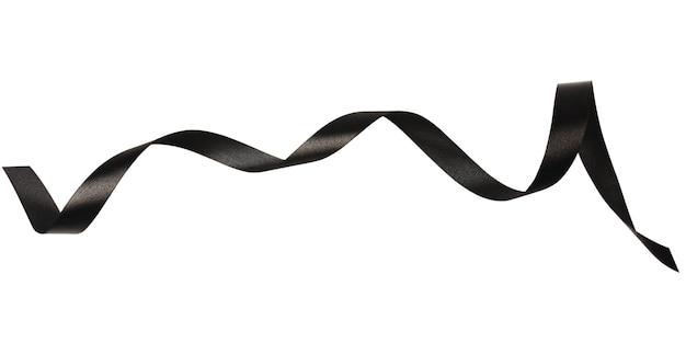 Nastri neri isolati su sfondo bianco con tracciato di ritaglio.