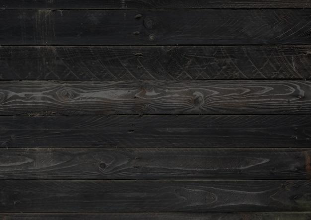 Trama di sfondo nero bordo di legno grezzo. sfondo