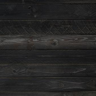 Trama di sfondo nero bordo di legno grezzo.