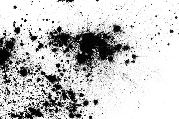 Sabbia nera isolata su sfondo bianco