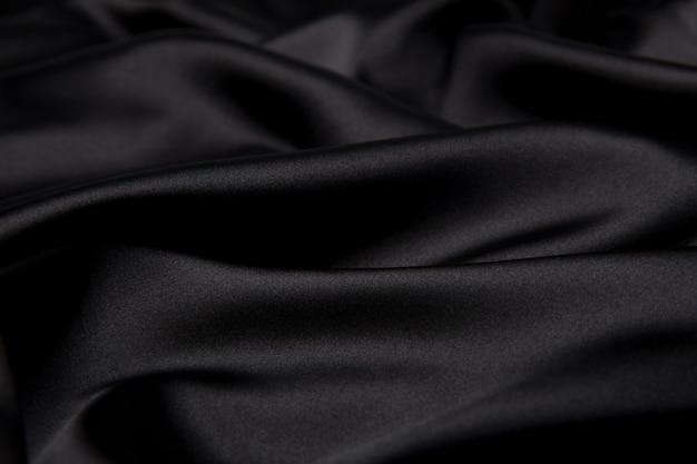Trama materiale di seta nera Foto Premium