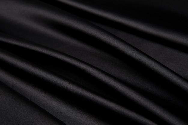 Trama materiale di seta nera
