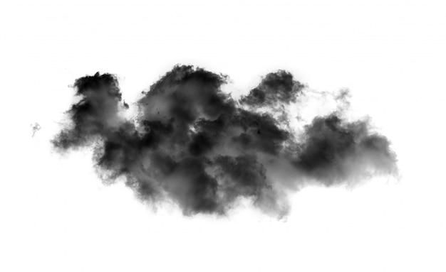Fumo o nuvole neri sulla parete nera