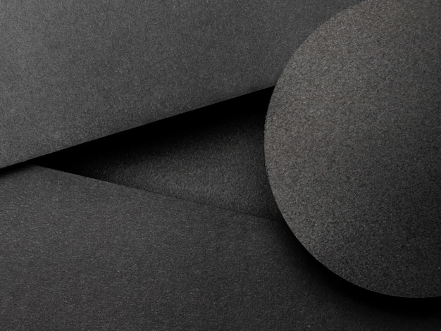 Triangoli neri e sfondo del cerchio