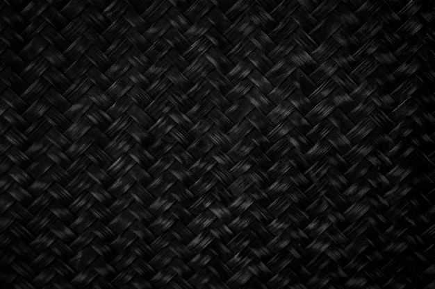 Sfondo di bambù intrecciato nero sfondo nero adatto al design o mettilo sullo sfondo come sfondo