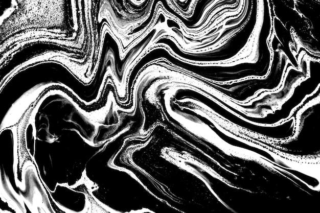 Fondo liquefatto marmo astratto bianco e nero
