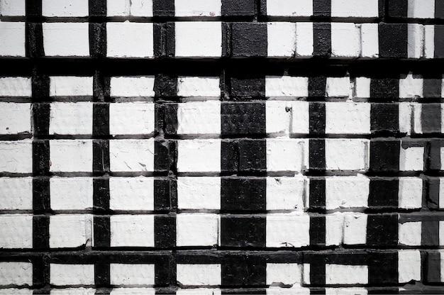 Priorità bassa di struttura del muro di mattoni in bianco e nero hd