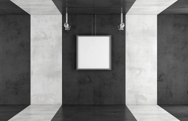 Galleria d'arte contemporanea in bianco e nero