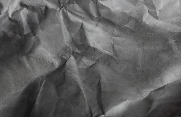Sfondo di carta in bianco e nero, trama di carta stropicciata