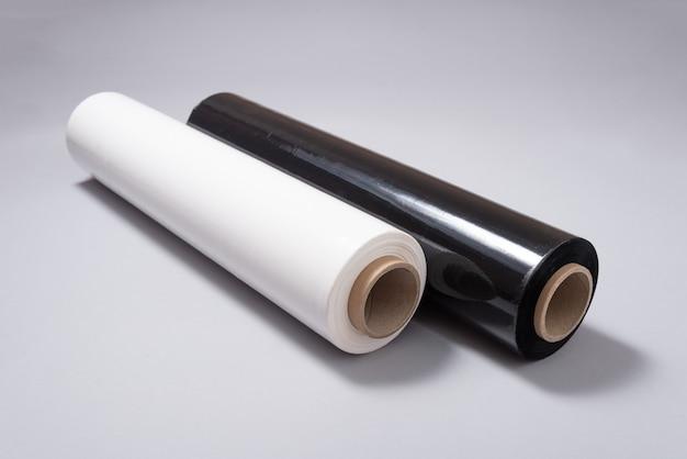 Rotolo di pellicola per pallet in bianco e nero