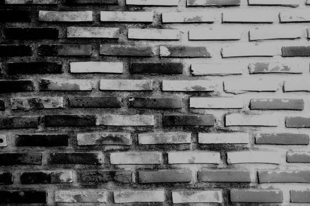Trama di mattoni muro bianco e nero