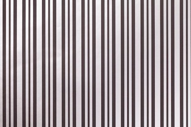 Carta a strisce da imballaggio in bianco e nero.