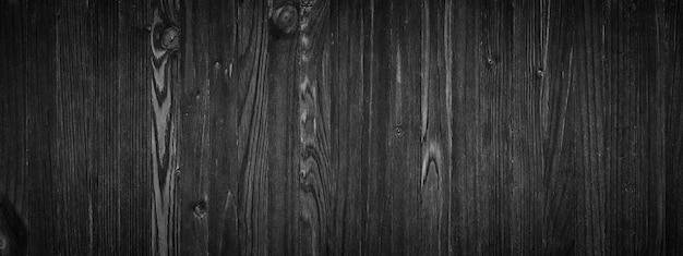 Struttura di legno nera, superficie del tavolo in legno vuota o parete come sfondo