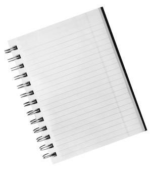 Sfondo bianco. quaderno a spirale di carta isolato su bianco