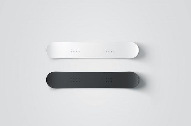 Snowboard in bianco e nero
