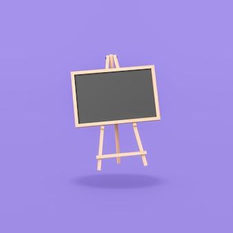 Lavagna vuota su sfondo viola