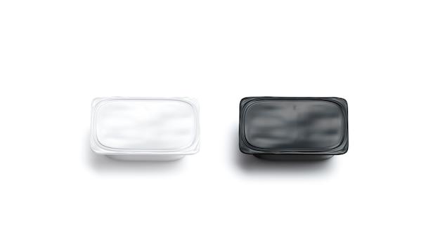 Set di mockup di scatole di burro bianco e bianco vuoto pacchetto di prodotti vuoto tara mock up isolato
