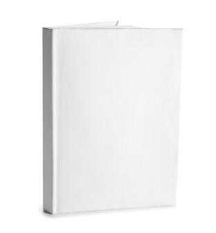 Libro bianco isolato su sfondo bianco