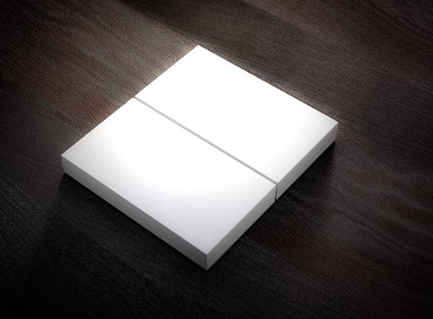 Modello di modello di biglietto da visita in bianco. rendering 3d.