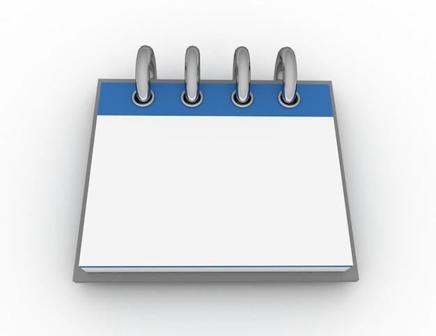 Un calendario vuoto
