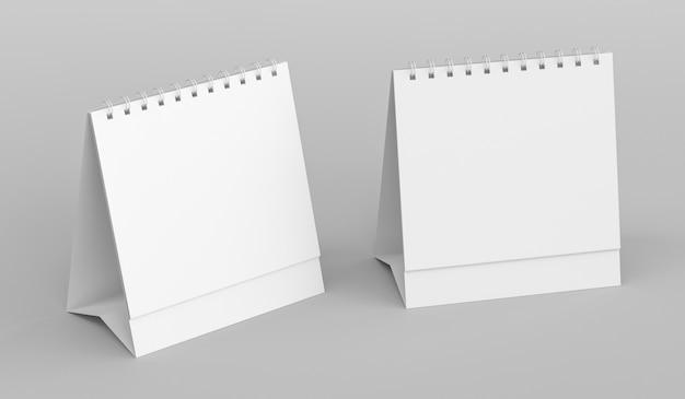 Calendario da tavolo vuoto, calendario da tavolo vuoto da tavolo, modello per il design aziendale, rendering 3d