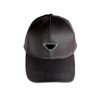 Cappello bianco in colore nero