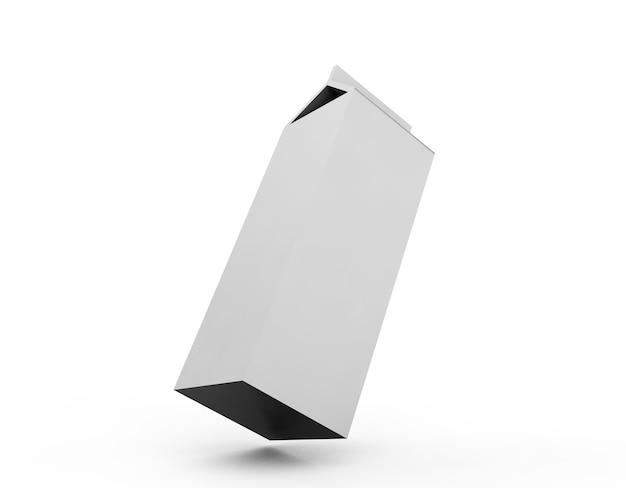 Scatole di succo vuote. modello di pacchetto al dettaglio. isolato su bianco. rendering 3d.