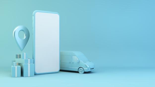 Concetto di consegna mobile vuoto