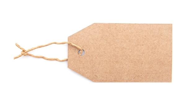 Etichetta di carta bianca o etichetta isolata