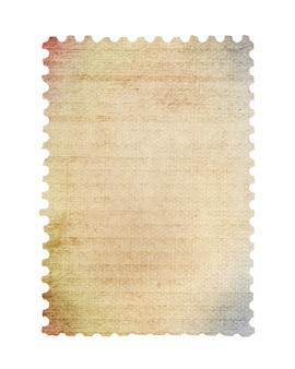 Timbro postale vuoto scansionato ad alta risoluzione. salvato con tracciato di ritaglio.